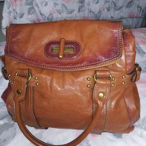 Brown Leather Hype shoulder bag briefcase satchel